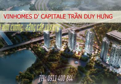 CHO THUÊ CHUNG CƯ VINHOMES D'CAPITALE TRẦN DUY HƯNG