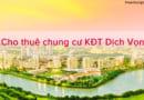 Cho thuê căn hộ chung cư Dịch Vọng công viên Cầu Giấy